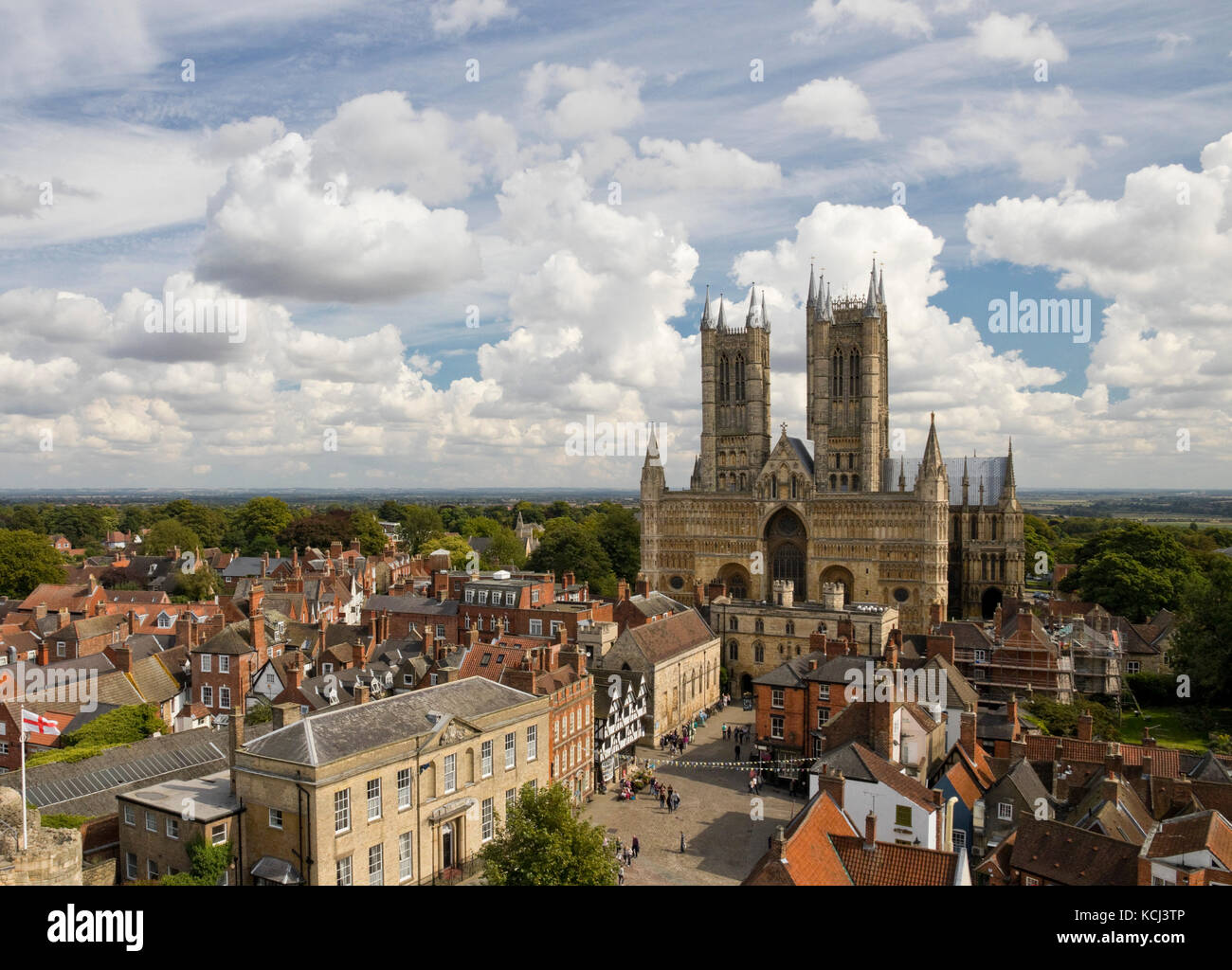 Historic Lincoln cathedral in England - Stock Image