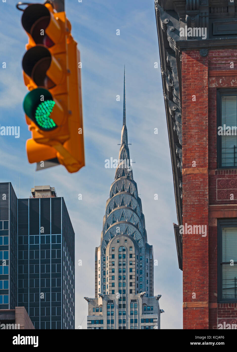 New York City, New York State, United States of America.  The Chrysler Building.  An Art Deco style skyscraper. - Stock Image