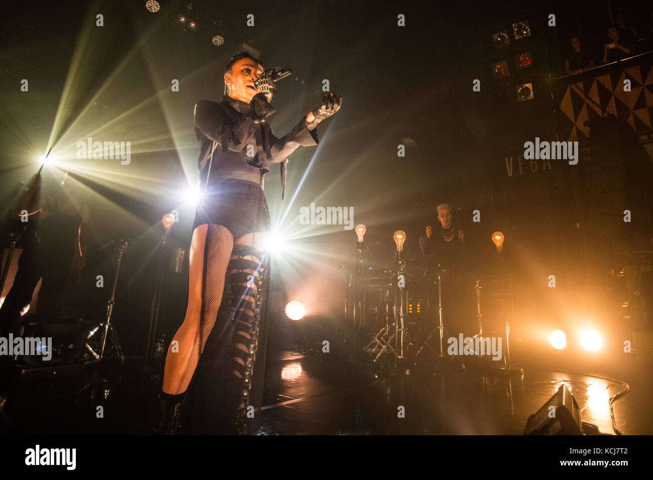 FKA twigs, the British singer, songwriter and music producer performs a live concert at VEGA in Copenhagen. Denmark, - Stock Image