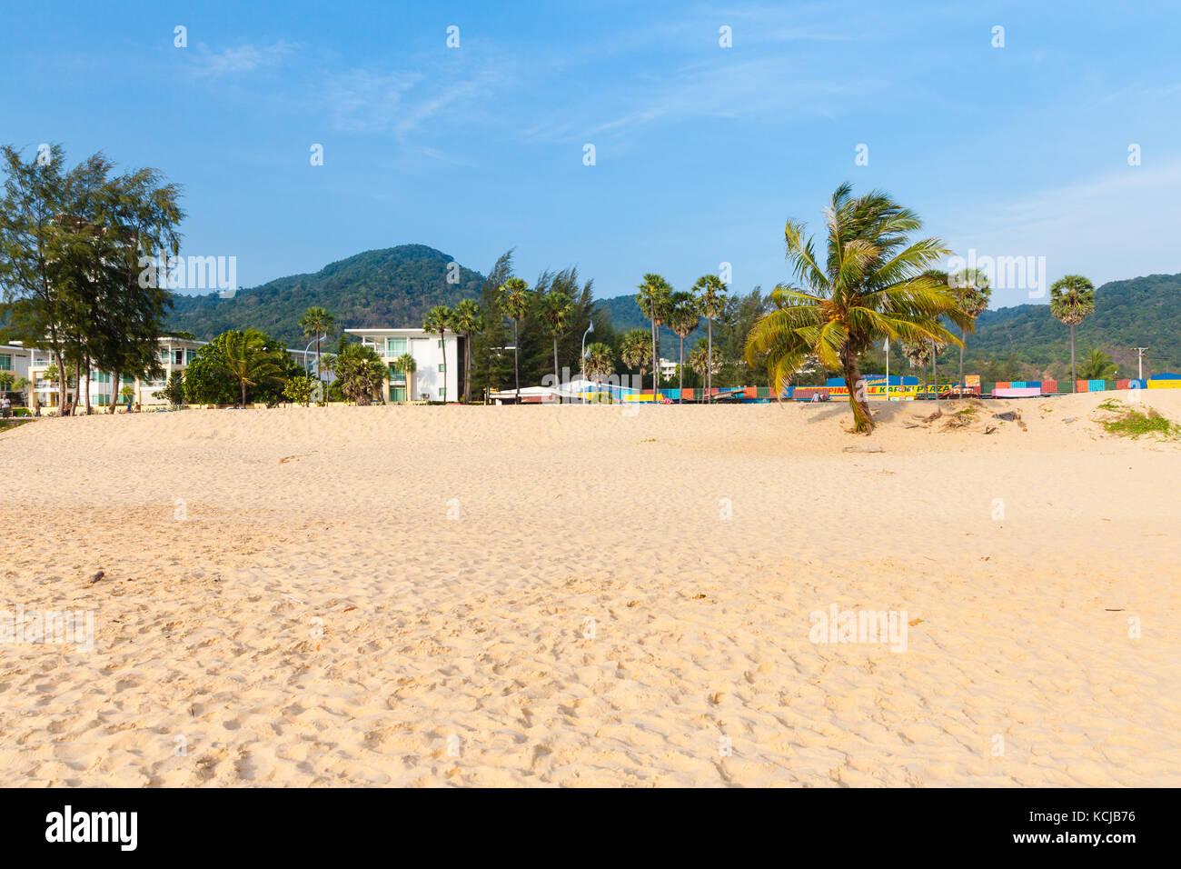 Phuket, Thailand - April 17, 2016: Daytime view of the Karon Beach on April 17, 2016 in Phuket, Thailand Stock Photo