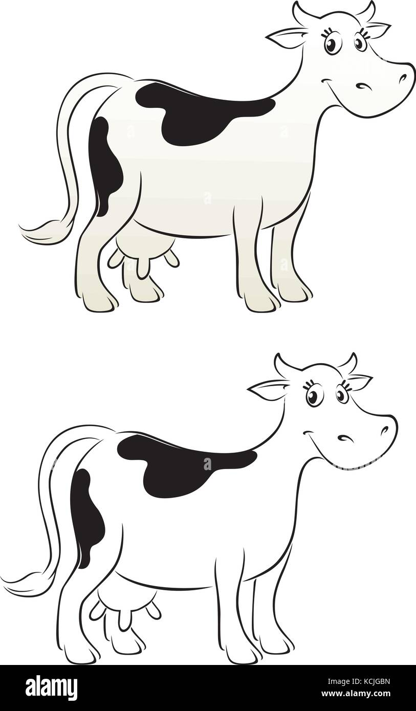 Milking Cut Out Stock Images & Pictures - Alamy