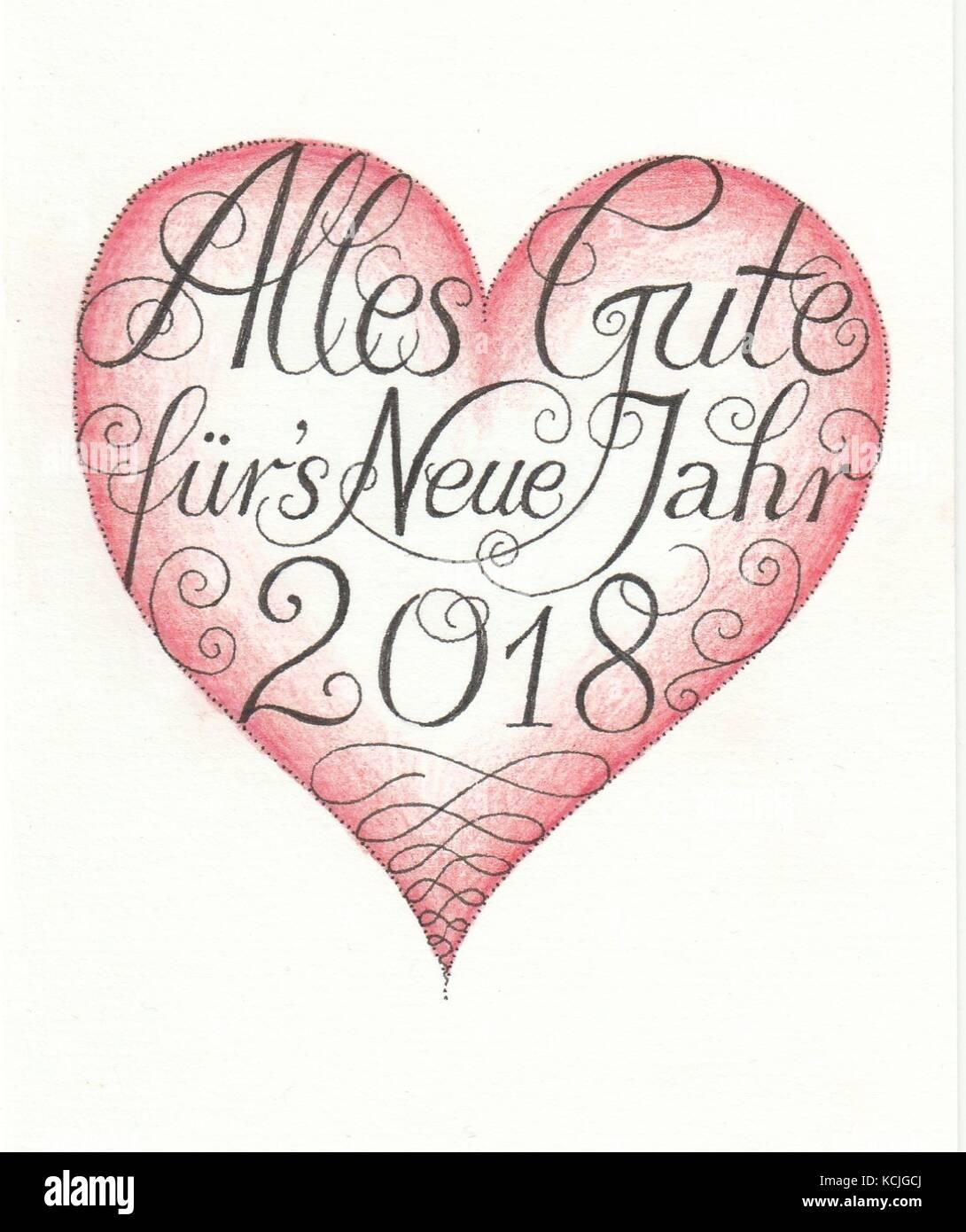 Alles Gute 2018 - Stock Vector