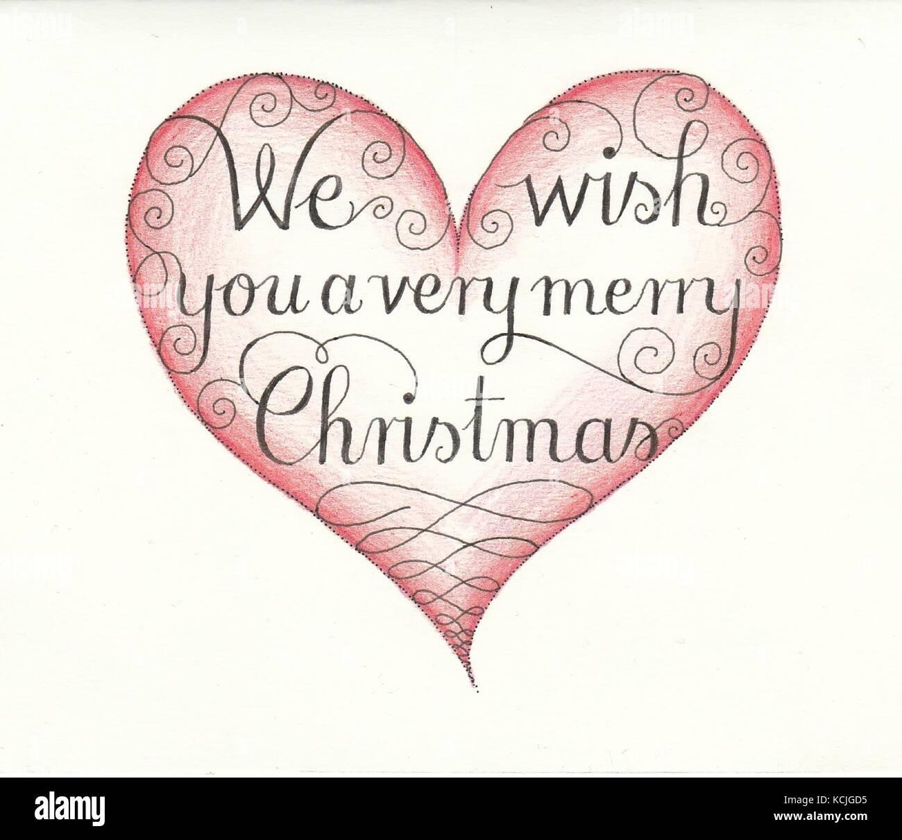 Heart We wish... - Stock Vector