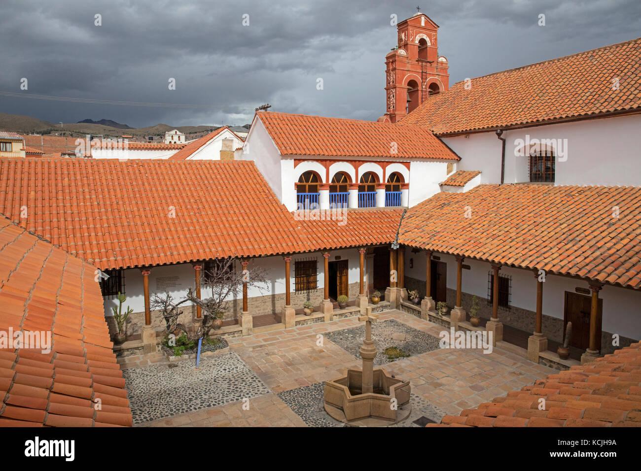Museo & Convento de Santa Teresa, still home to a small community of Carmelite nuns in Potosi, Tomás Frías, - Stock Image