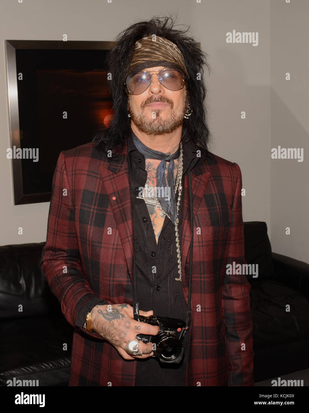 Nikki Sixx attends the Nikki Sixx Photo Exhibit 'Conversations with Angels' and Leica Q Launch at Leica - Stock Image