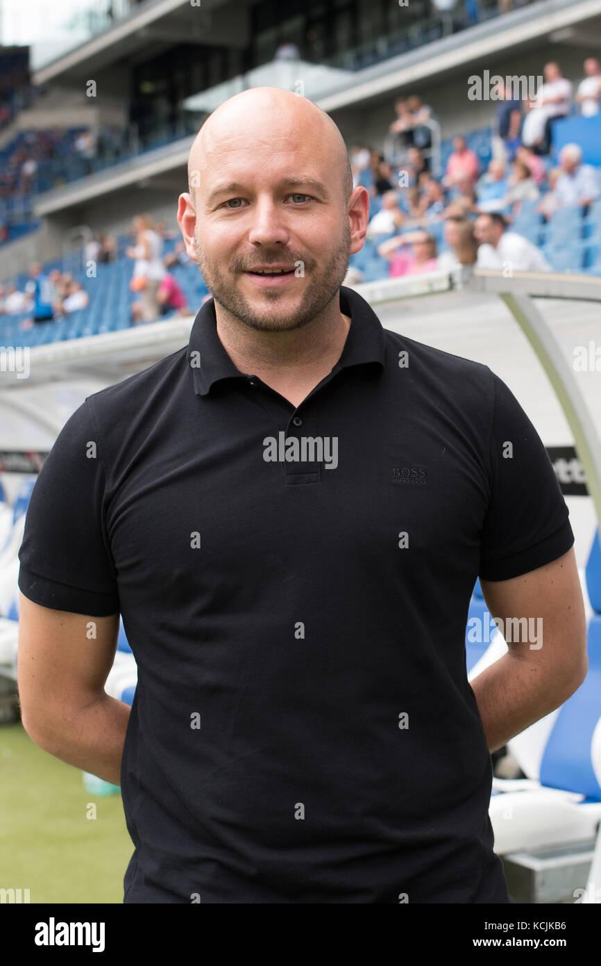Sinsheim, GER - August 05, TSG Hoffenheim - FC Bologna, Saisoneröffnung, Rhein-Neckar-Arena . Im Bild: Direktor - Stock Image
