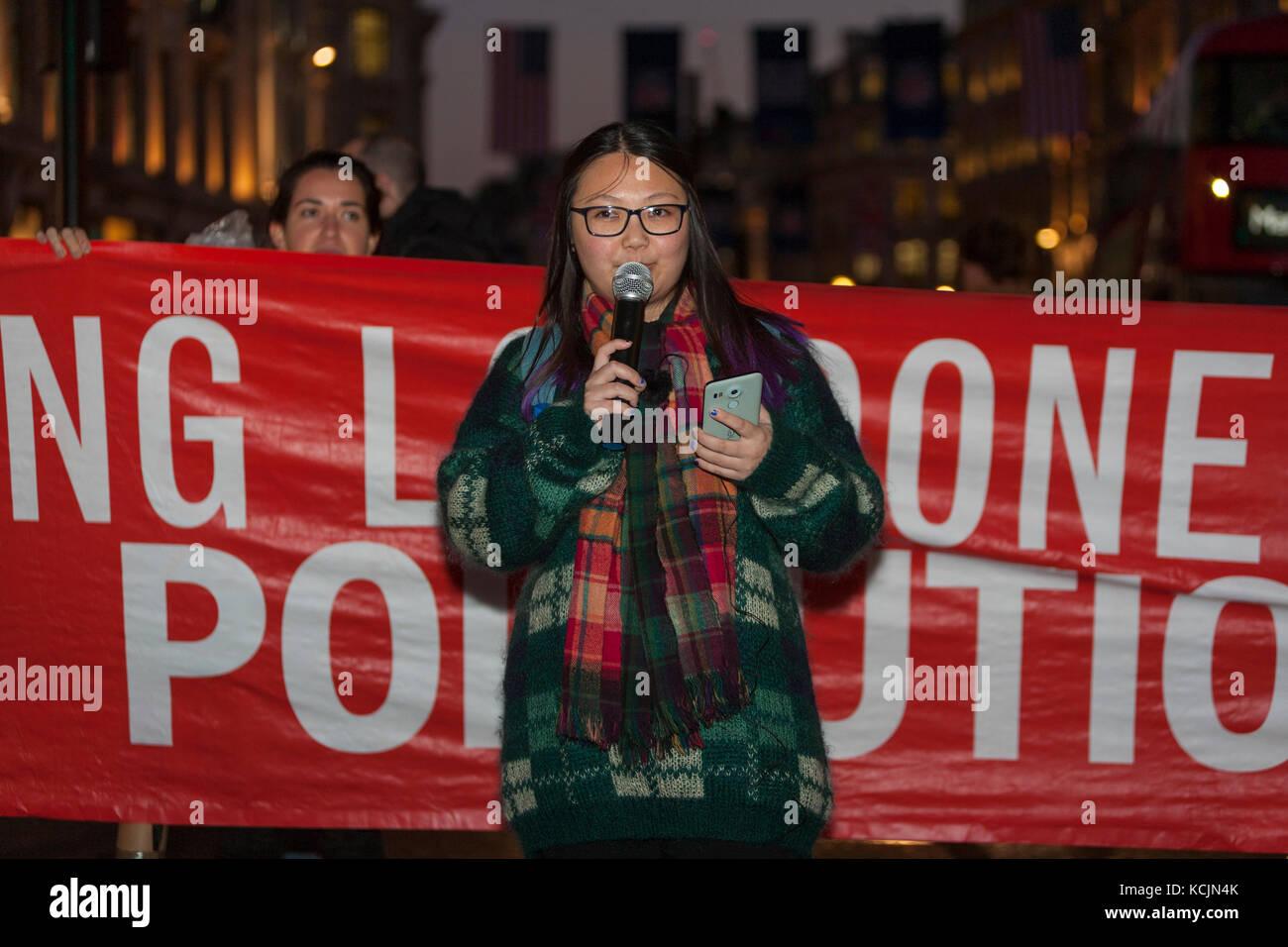London, UK. 5th Oct, 2017. Stop Killing Londoners Protest: Oxford Circus, London UK. 5th October, 2017. Stop Killing - Stock Image