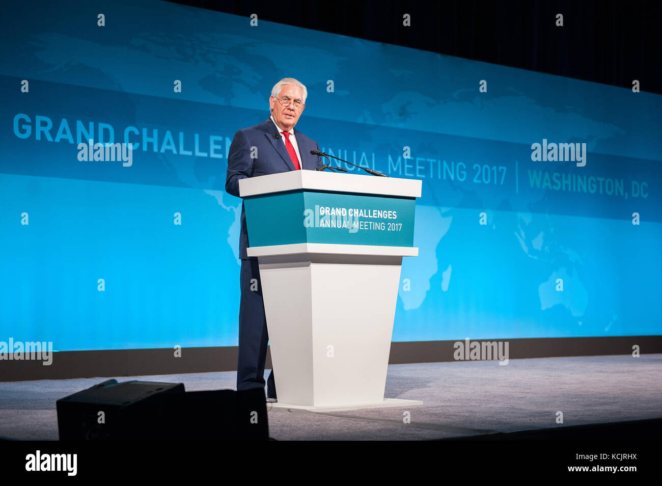 Washington, United States Of America. 04th Oct, 2017. U.S. Secretary of State Rex Tillerson addresses the 13th Annual - Stock Image