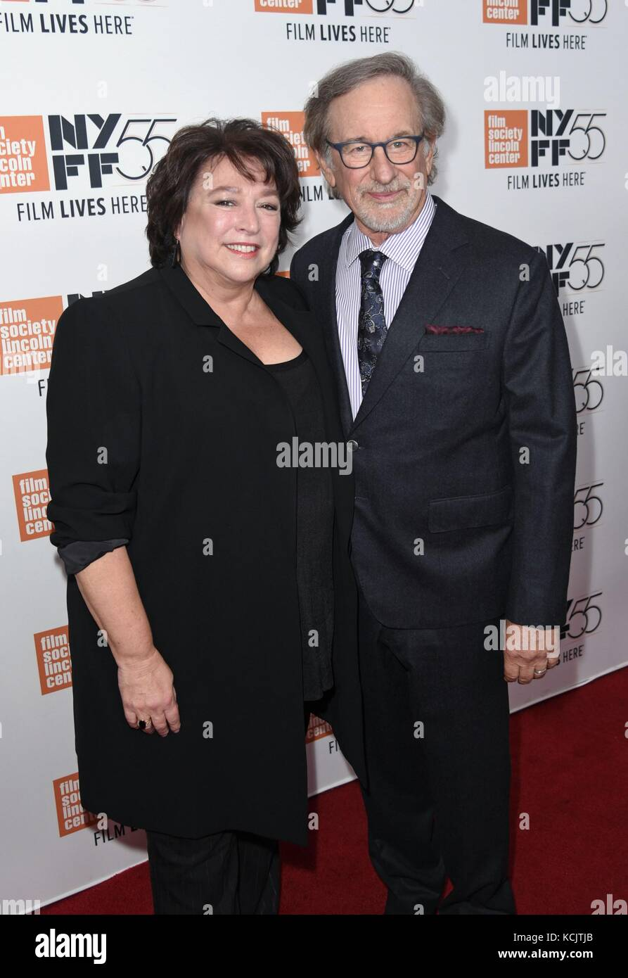 New York, NY, USA. 5th Oct, 2017. Susan Lacy, Steven Spielberg at arrivals for SPIELBERG Premiere at the 55th Annual Stock Photo