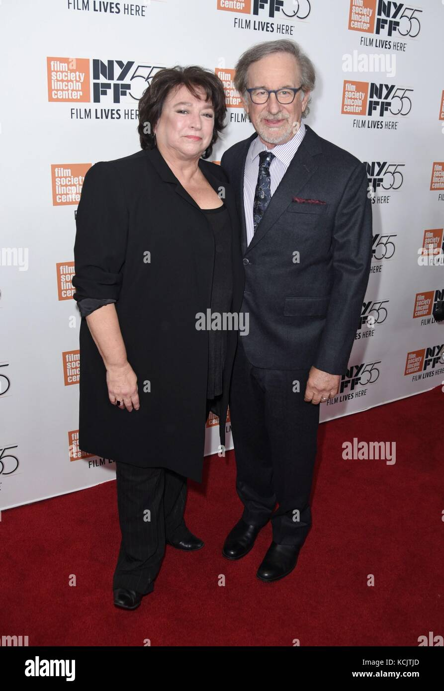 New York, NY, USA. 5th Oct, 2017. Susan Lacy, Steven Spielberg at arrivals for SPIELBERG Premiere at the 55th Annual - Stock Image