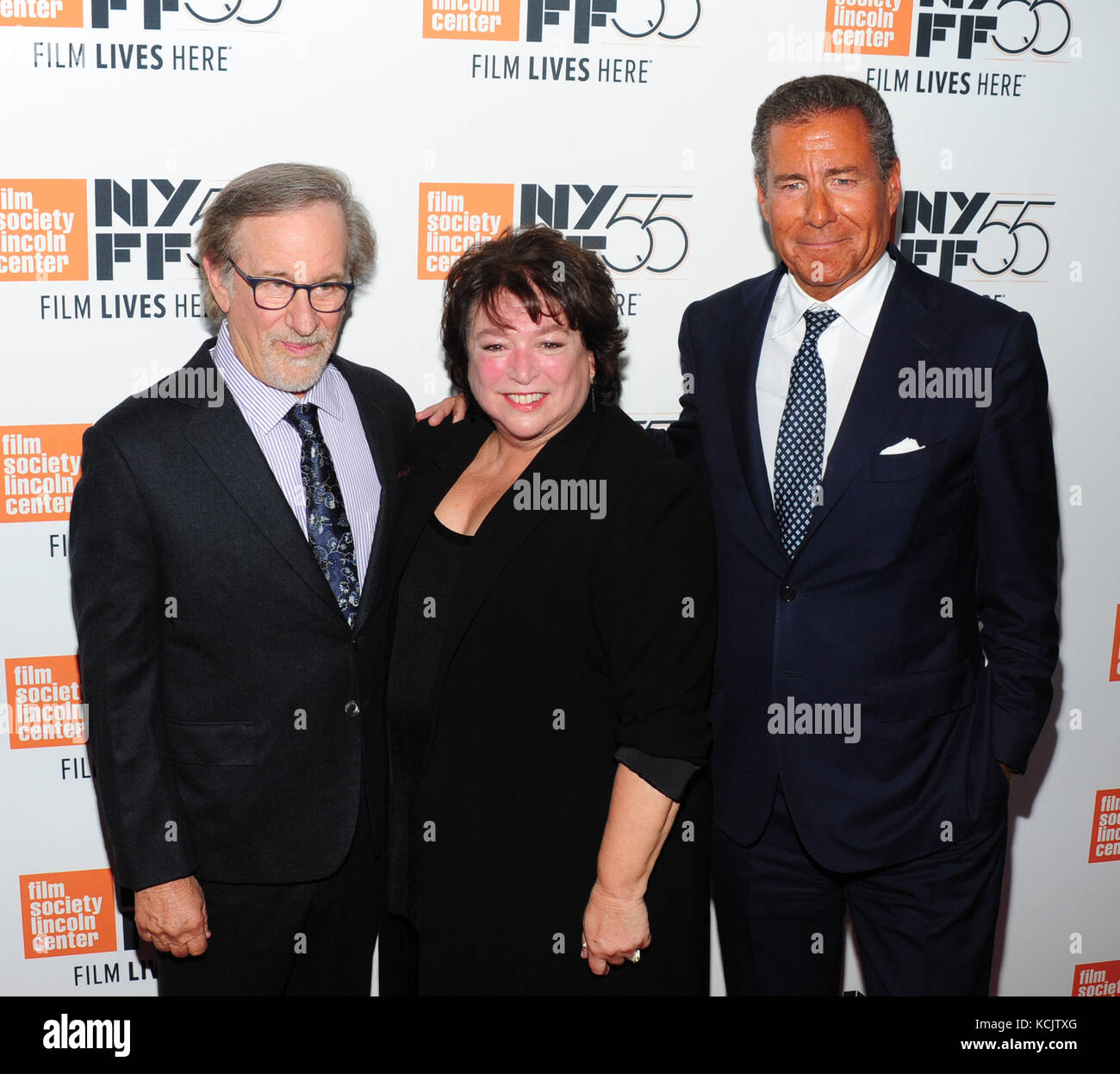 New York, USA. 05th Oct, 2017. New York, NY, USA. 5th Oct, 2017. Steven Spielberg, Richard Plepler, Susan Lacy attends - Stock Image