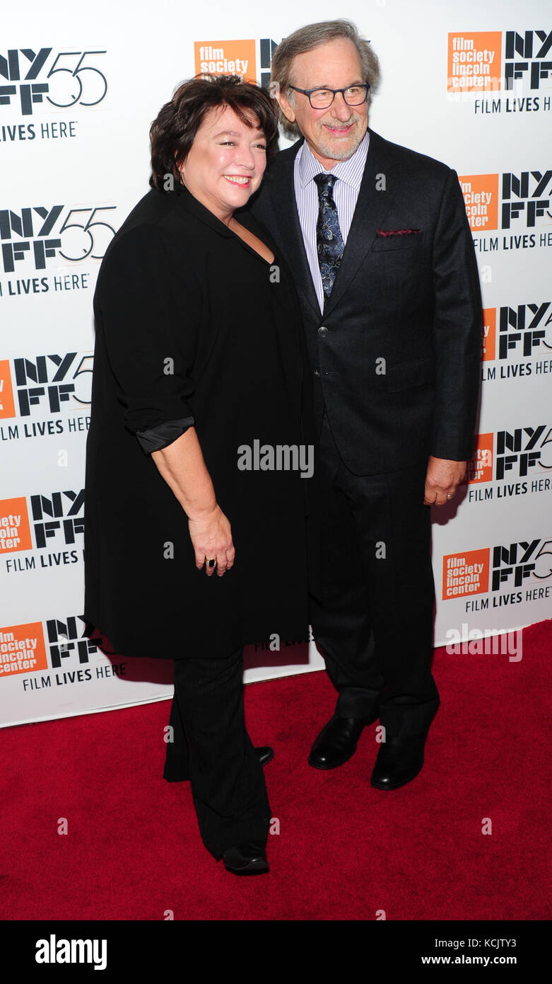 New York, USA. 05th Oct, 2017. New York, NY, USA. 5th Oct, 2017. Susan Lacy, Steven Spielberg attends 55th New York - Stock Image