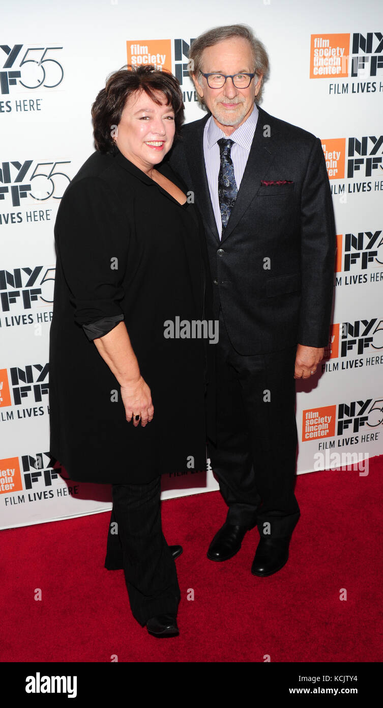 New York, USA. 05th Oct, 2017. New York, NY, USA. 5th Oct, 2017. Susan Lacy, Steven Spielberg attends 55th New York Stock Photo