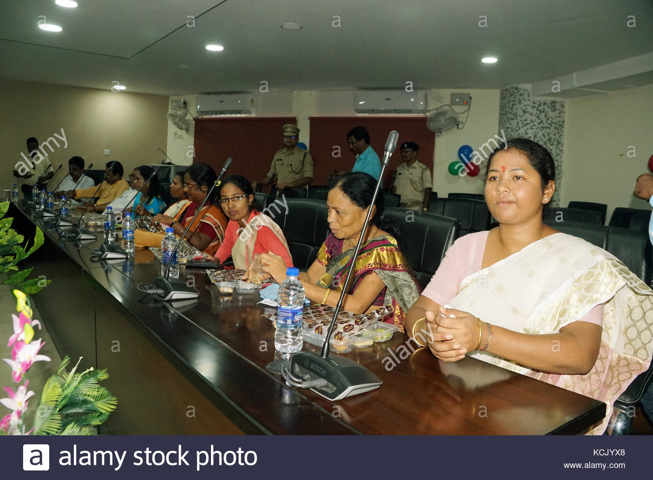 The members of Jharkhand Legislative Assembly), Gitta Koda (Jagannathpur),(at extreme right) at newly constructed - Stock Image