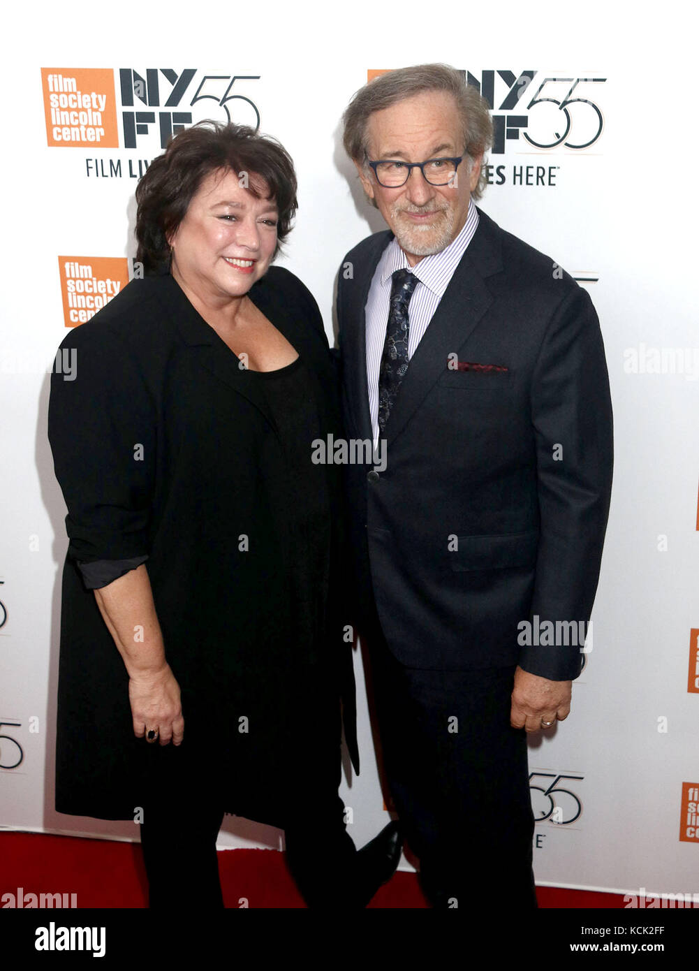 New York, New York, USA. 5th Oct, 2017. Directors SUSAN LACY and STEVEN SPIELBERG attend the 55th New York Film - Stock Image