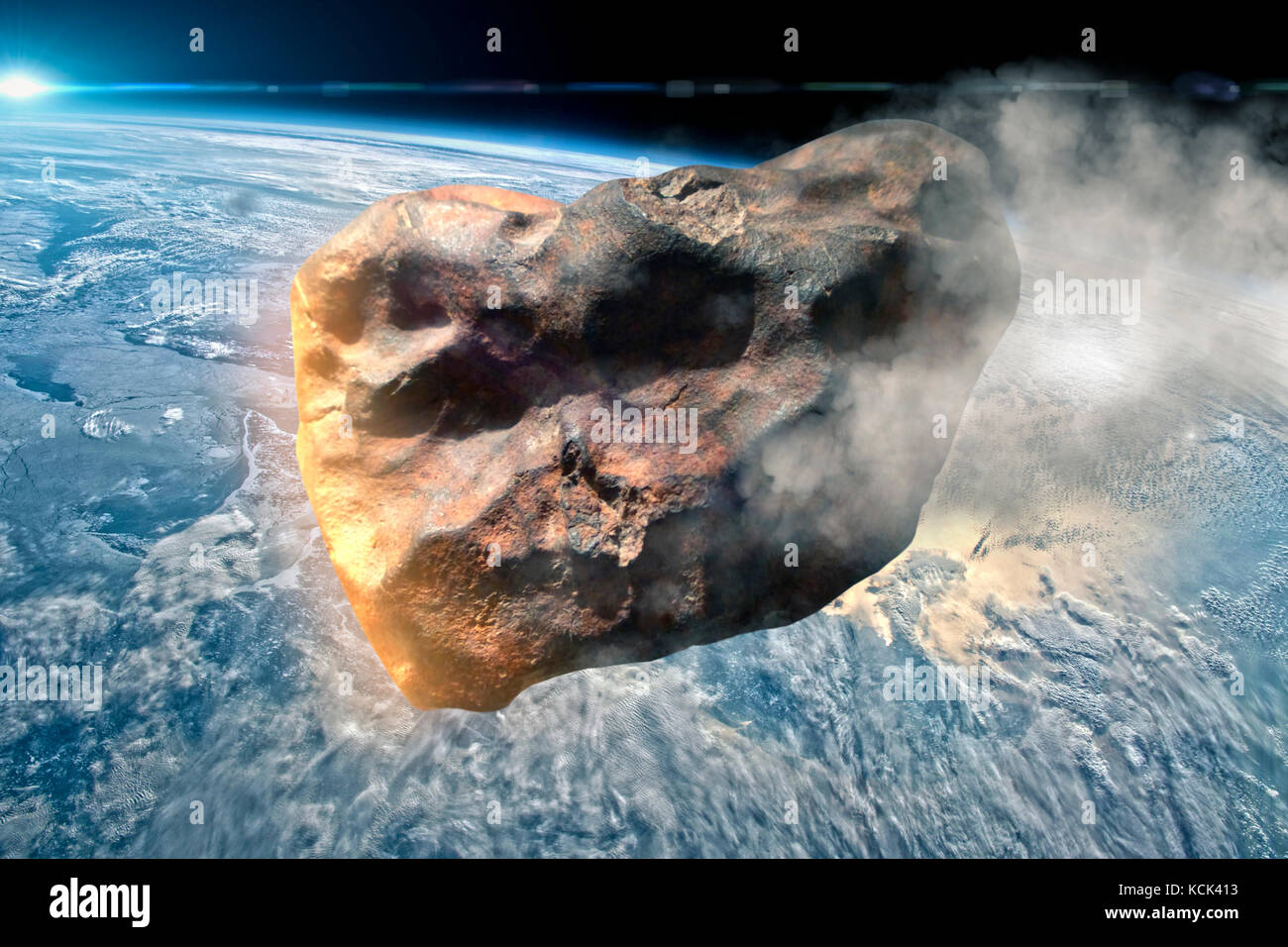Earth in this montage provided by NASA - Stock Image