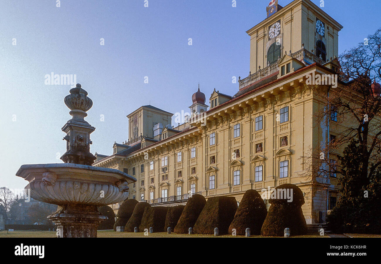 Esterházy Palace at Eisenstadt, Burgenland, Austria Stock Photo
