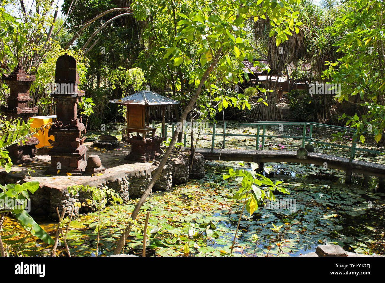 Bali can be found anywhere beautiful temples made as gems in suggestive corners- Pemuteran,Bali (Indonesia) - Stock Image