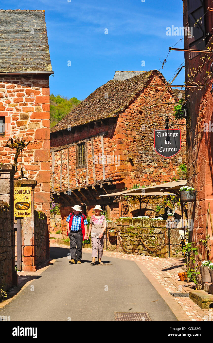 Collonges-la-Rouge, Correze Department, Limousin, France - Stock Image
