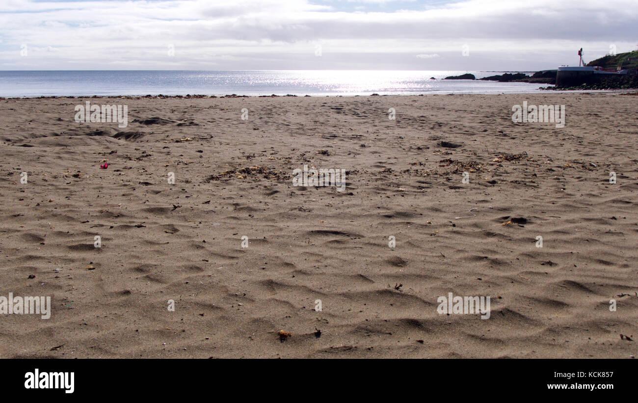 An empty Cornish beach in autumn (October), memories of summers past Stock Photo