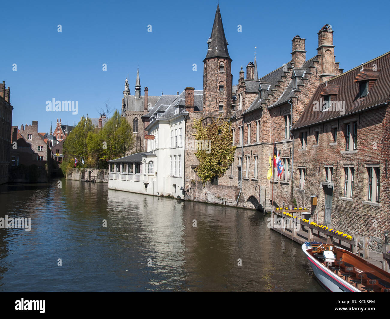The Rozenhoedkaai Canal - Bruges, Belgium Stock Photo