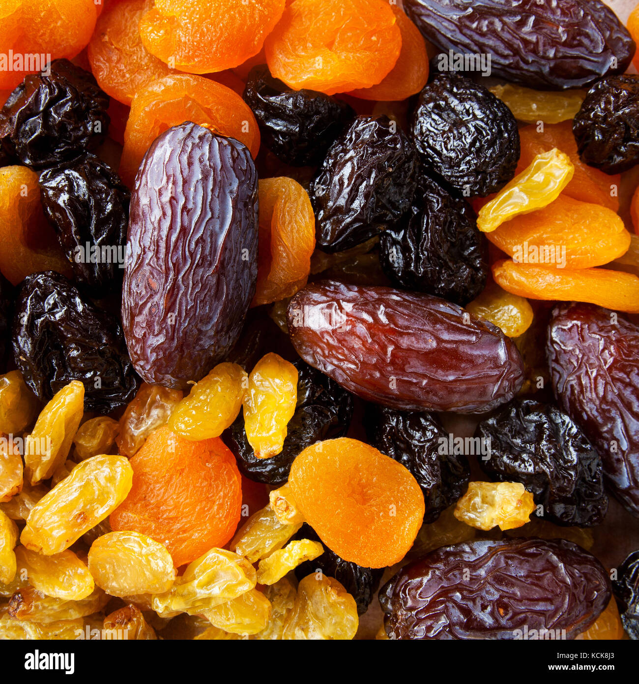dried fruit for breakfast - Stock Image