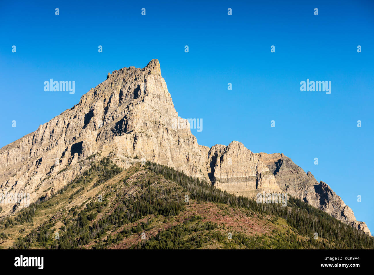 Mount Anderson or Anderson Peak, Waterton Lakes National Park, Alberta, Canada - Stock Image