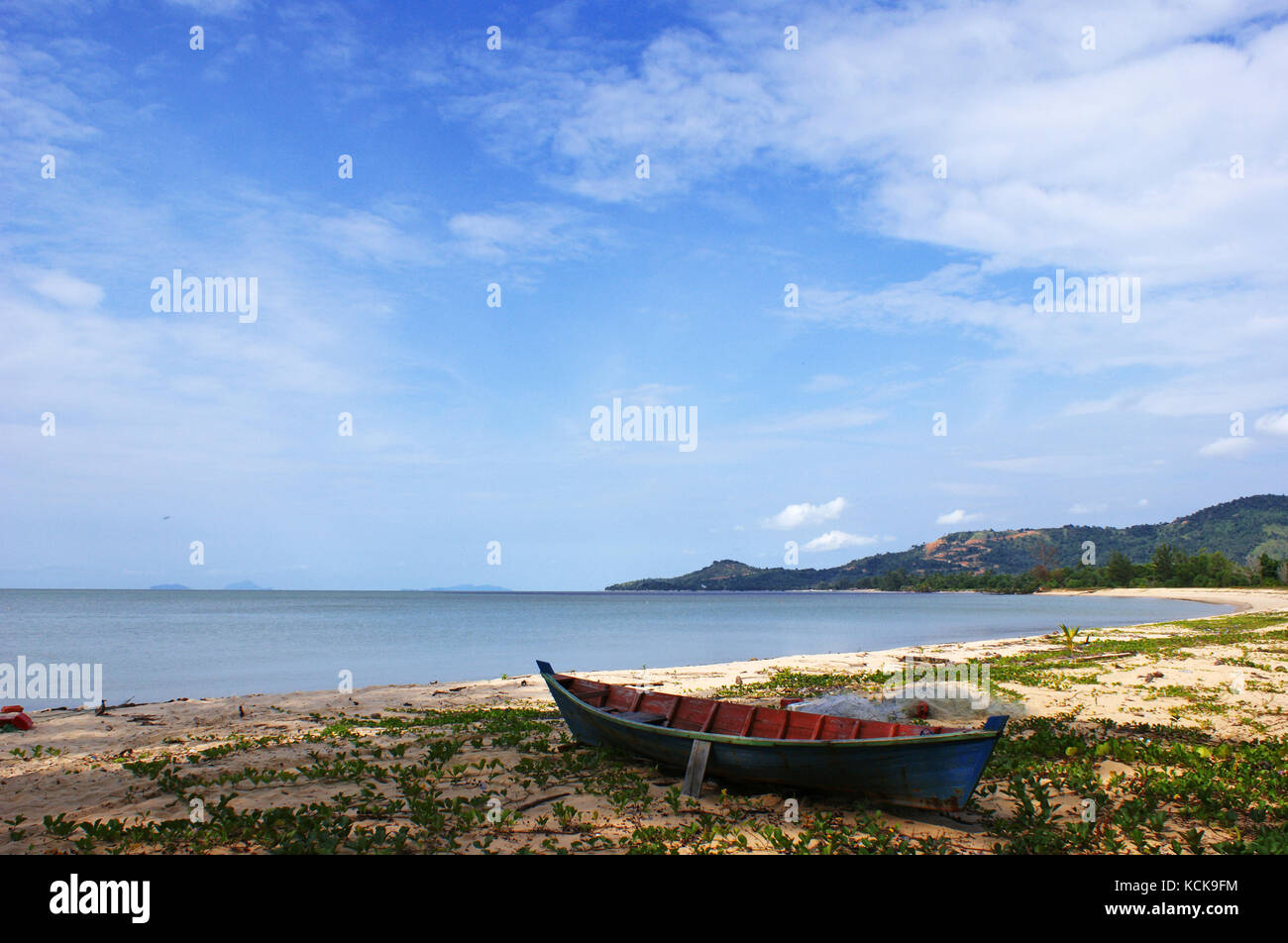 Samudera Beach, Singkawang, West Kalimantan, Indonesia - Stock Image