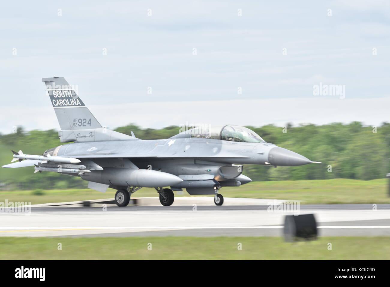 South Carolina Air National Guard F-16C Fighting Falcon - Stock Image