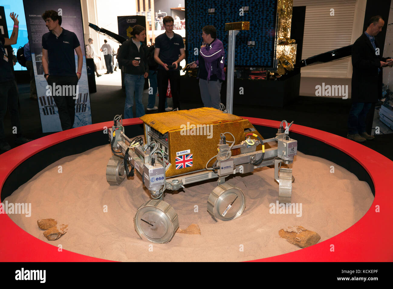 Prototype Mars Rover made by Airbus  in conjunction with the European Space Agency, on display at New Scientist - Stock Image