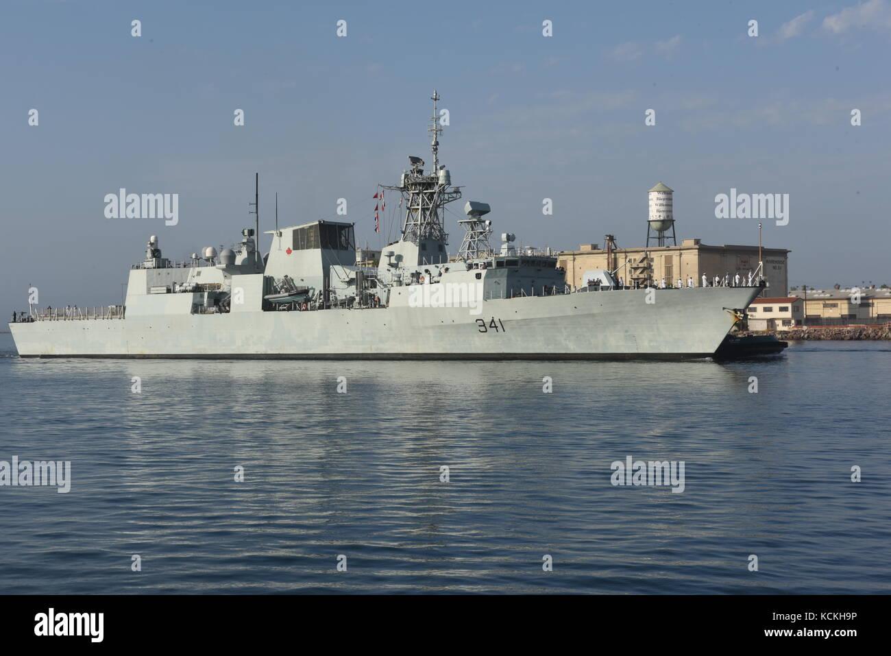 The Royal Canadian Navy Halifax-class frigate HMCS Ottawa