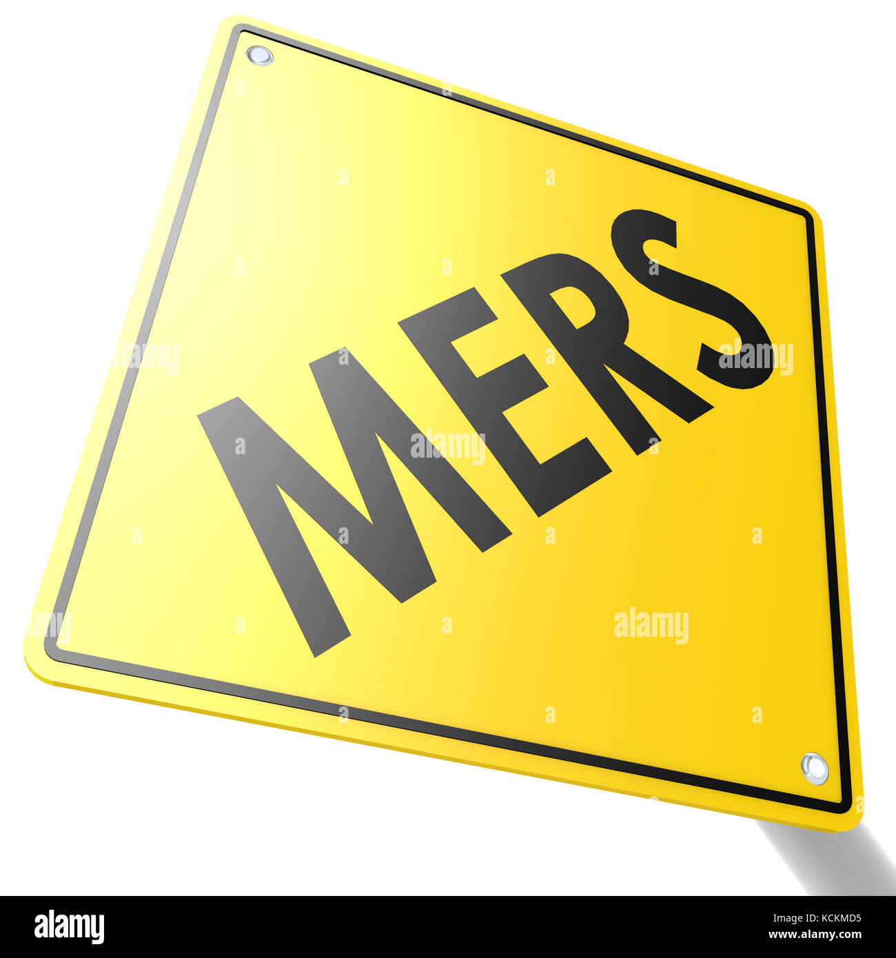 MERS road sign image with hi-res rendered artwork that could be used for any graphic design. - Stock Image