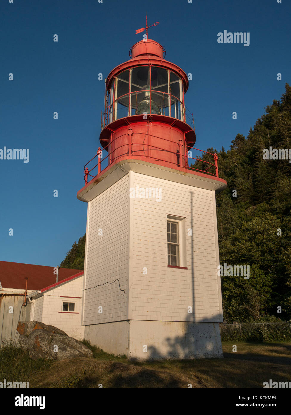 Cap Chat Lighthouse, Cap Chat, Gaspe Peninsula, Quebec, Canada. - Stock Image