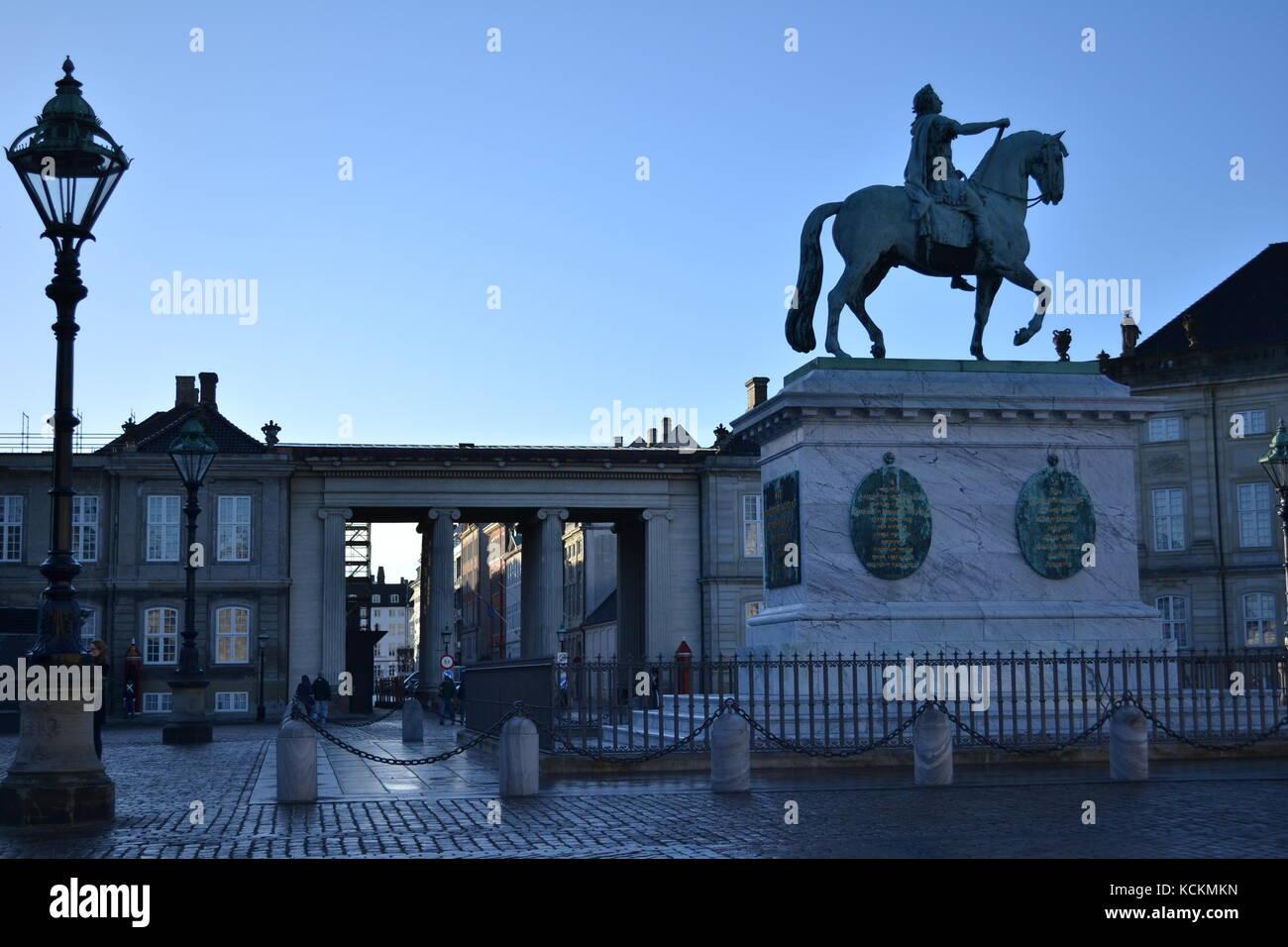 Palácio de Amalienborg - Copenhagem - Stock Image
