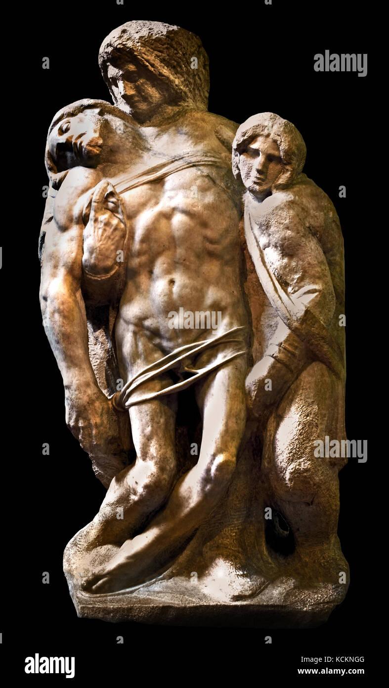 Michelangelo - Buonarroti - Galleria dell Accademia - Florence Italy ( Michelangelo di Lodovico Buonarroti Simoni - Stock Image