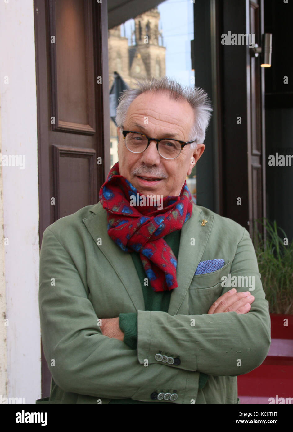 MAGDEBURG, GERMANY - September 15, 2017: The head of the Berlinale Film Festival, Dieter Kosslick,  in Magdeburg. He criticizes Harvey Weinstein. Stock Photo