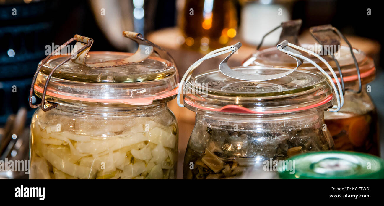 Preserving Jars - Stock Image