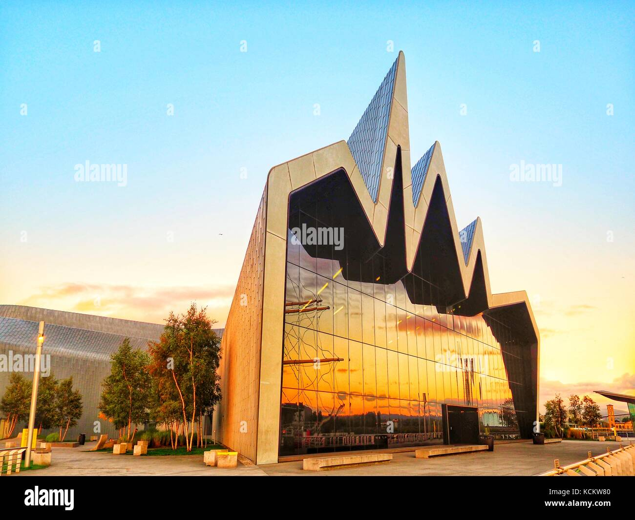Museum of Transport, Glasgow. Designed by world renowned architect Zaha Hadid, this was the European Museum of the - Stock Image