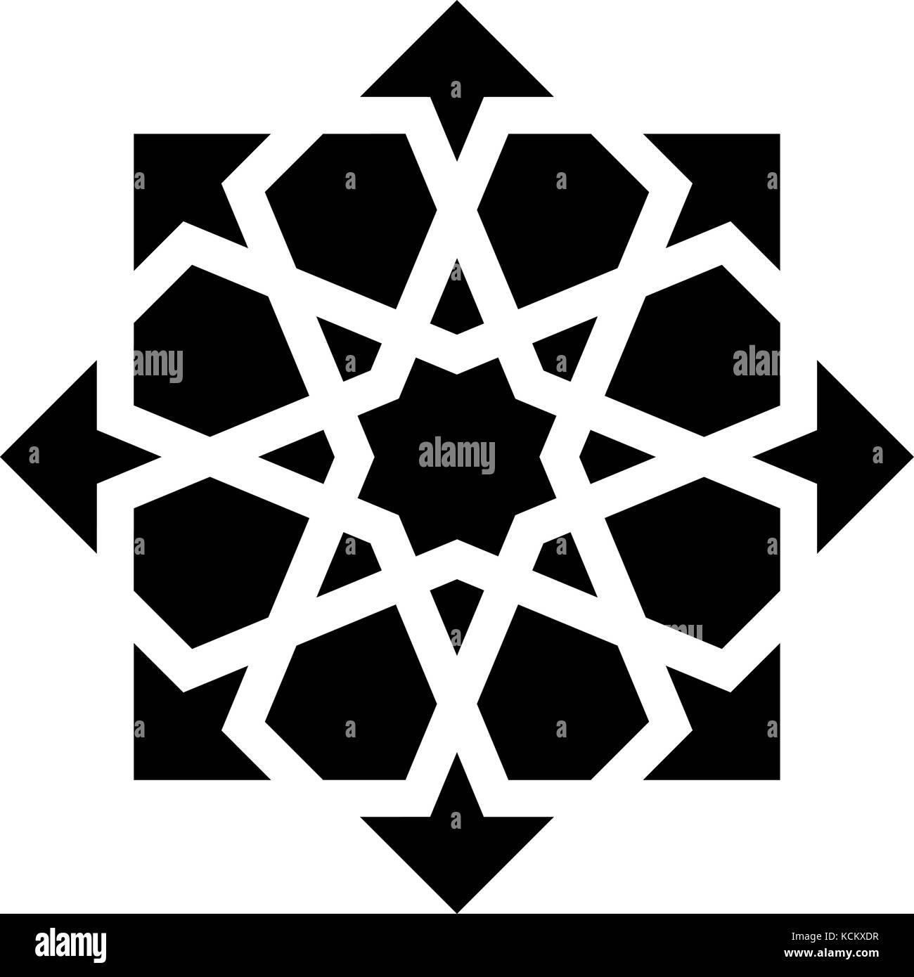 black arabesque ornament - Stock Image