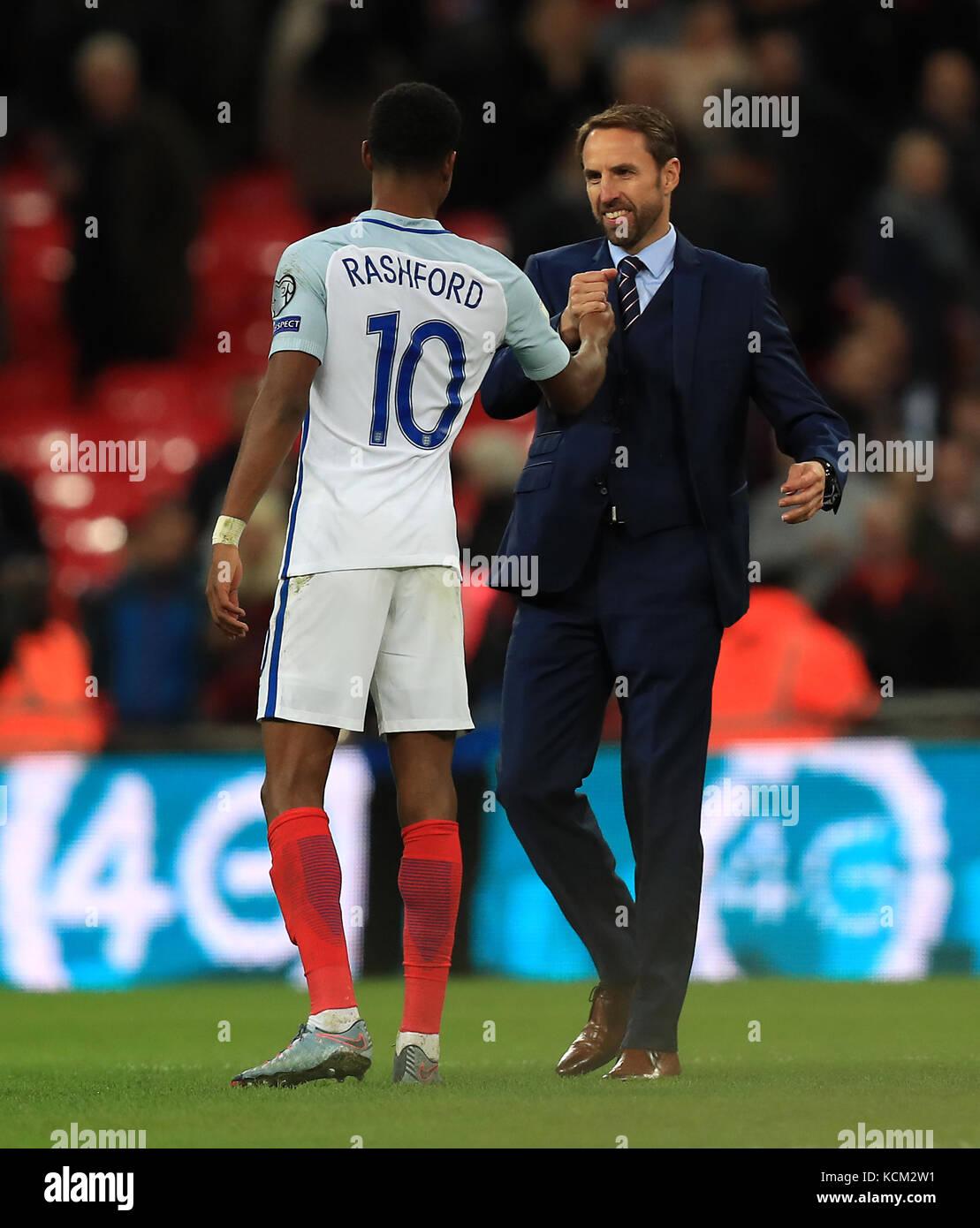 competitive price da2e8 8a45f England's Marcus Rashford (left) manager Gareth Southgate ...