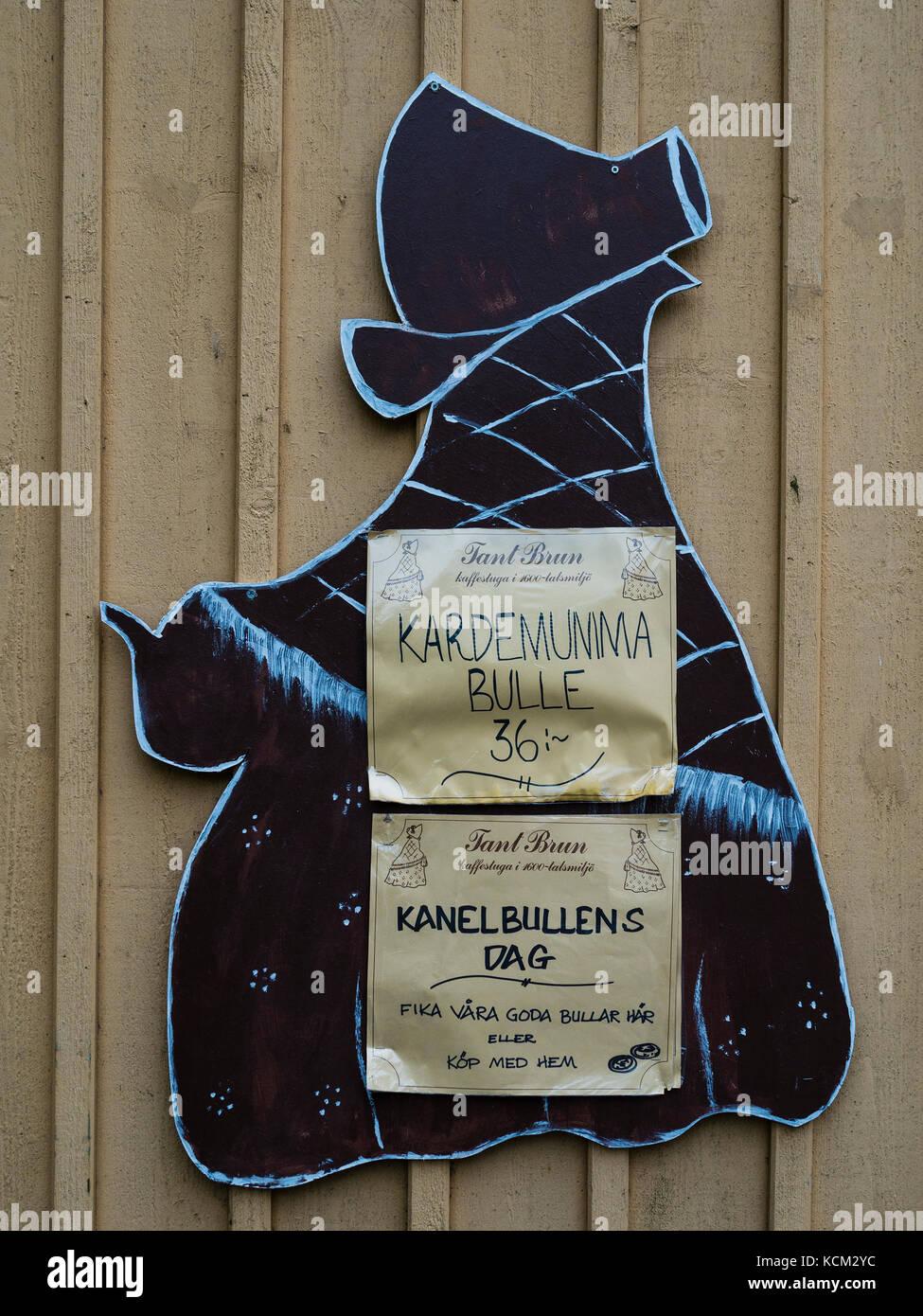 Café Tant Brun in Sigtuna, outside of Märsta, north of Stockholm, Sweden , Europe. Stock Photo