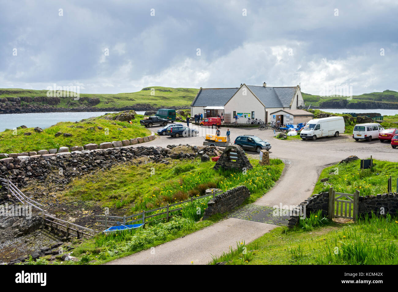 The Galmisdale Café and Bar at Galmisdale Point on the Isle of Eigg, Scotland, UK Stock Photo