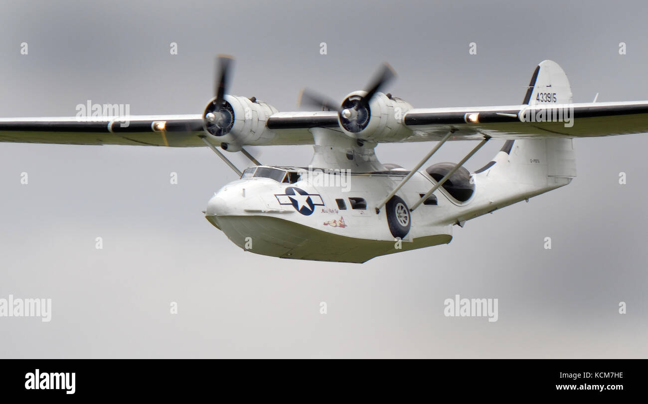 Consolidated Catalina PBY flying boat amphibian. - Stock Image