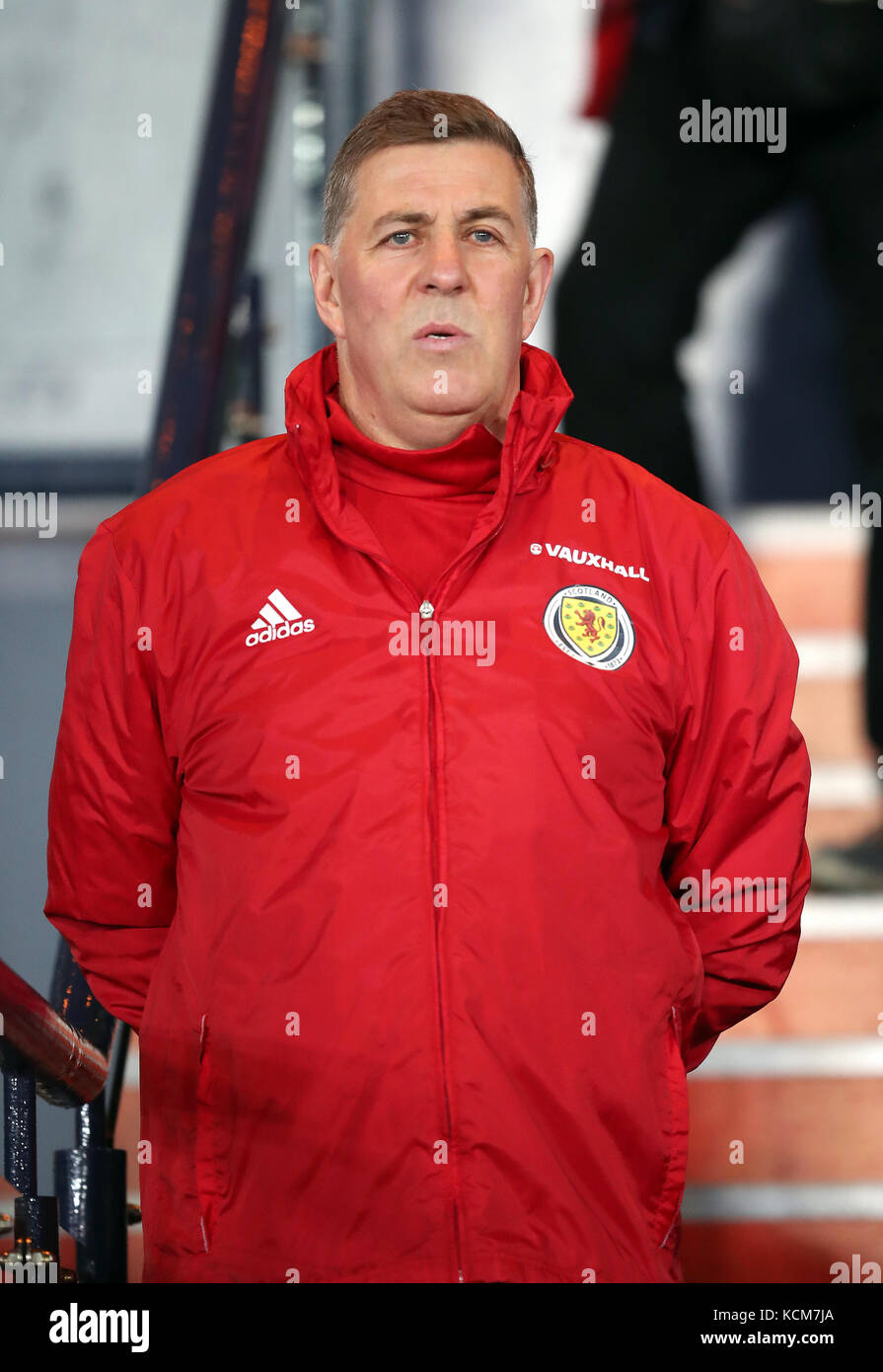 Scotland Assistant Manager Mark Mcghee During The 2018 Fifa World Cup Qualifying Group F Match At Hampden Park Glasgow Press Association Photo
