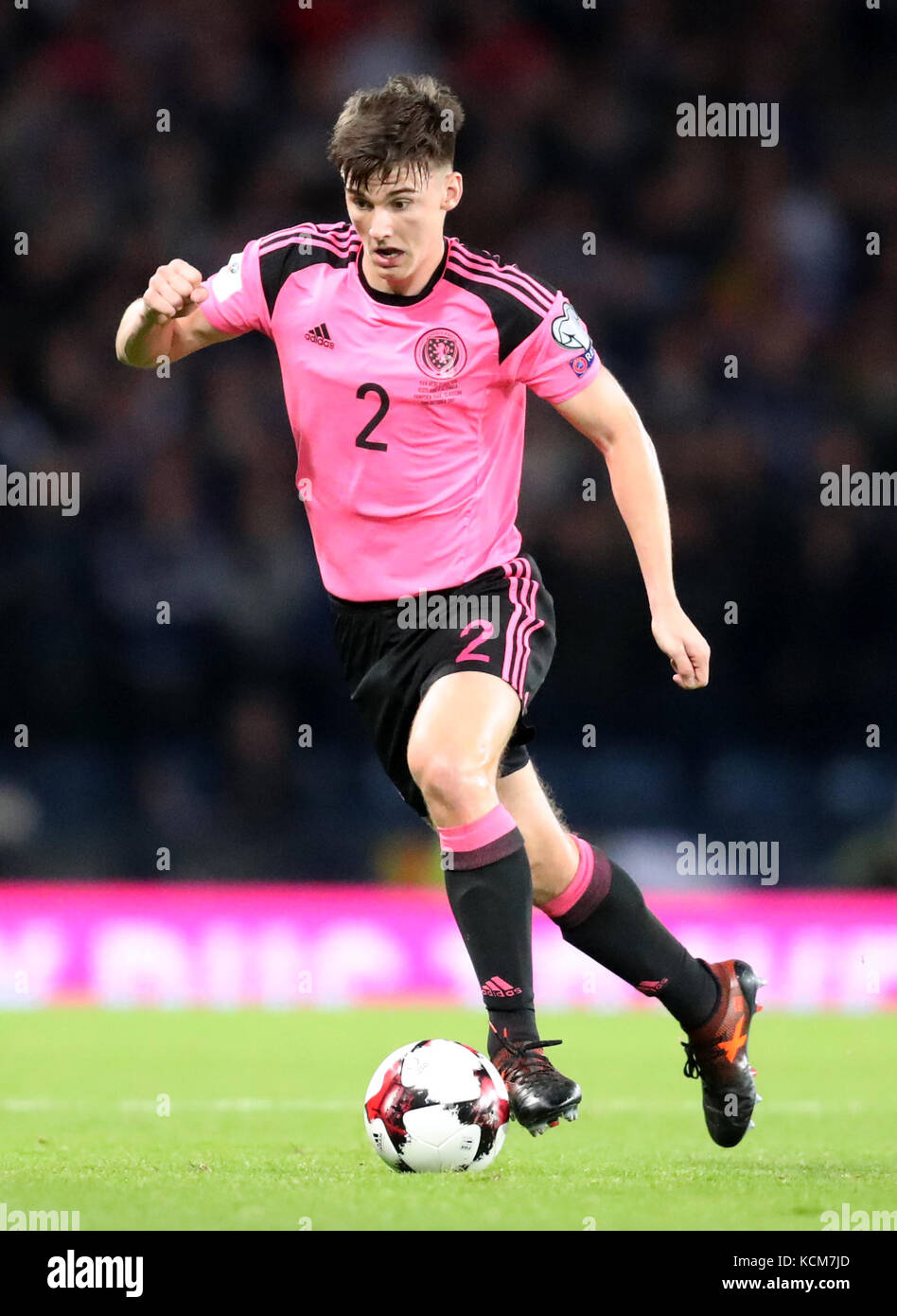 Scotland S Kieran Tierney During The 2018 Fifa World Cup Qualifying Group F Match At Hampden Park Glasgow Press Association Photo