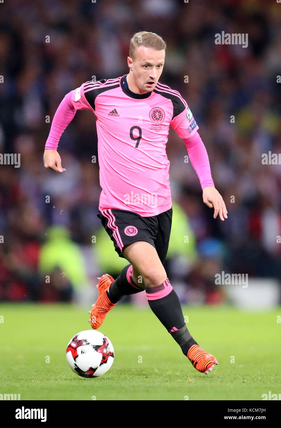 Scotland S Leigh Griffiths During The 2018 Fifa World Cup Qualifying Group F Match At Hampden Park Glasgow Press Association Photo