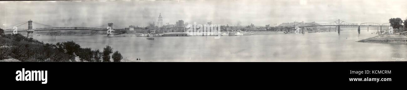 Vintage Map Of Cincinnati Stock Photos Vintage Map Of Cincinnati