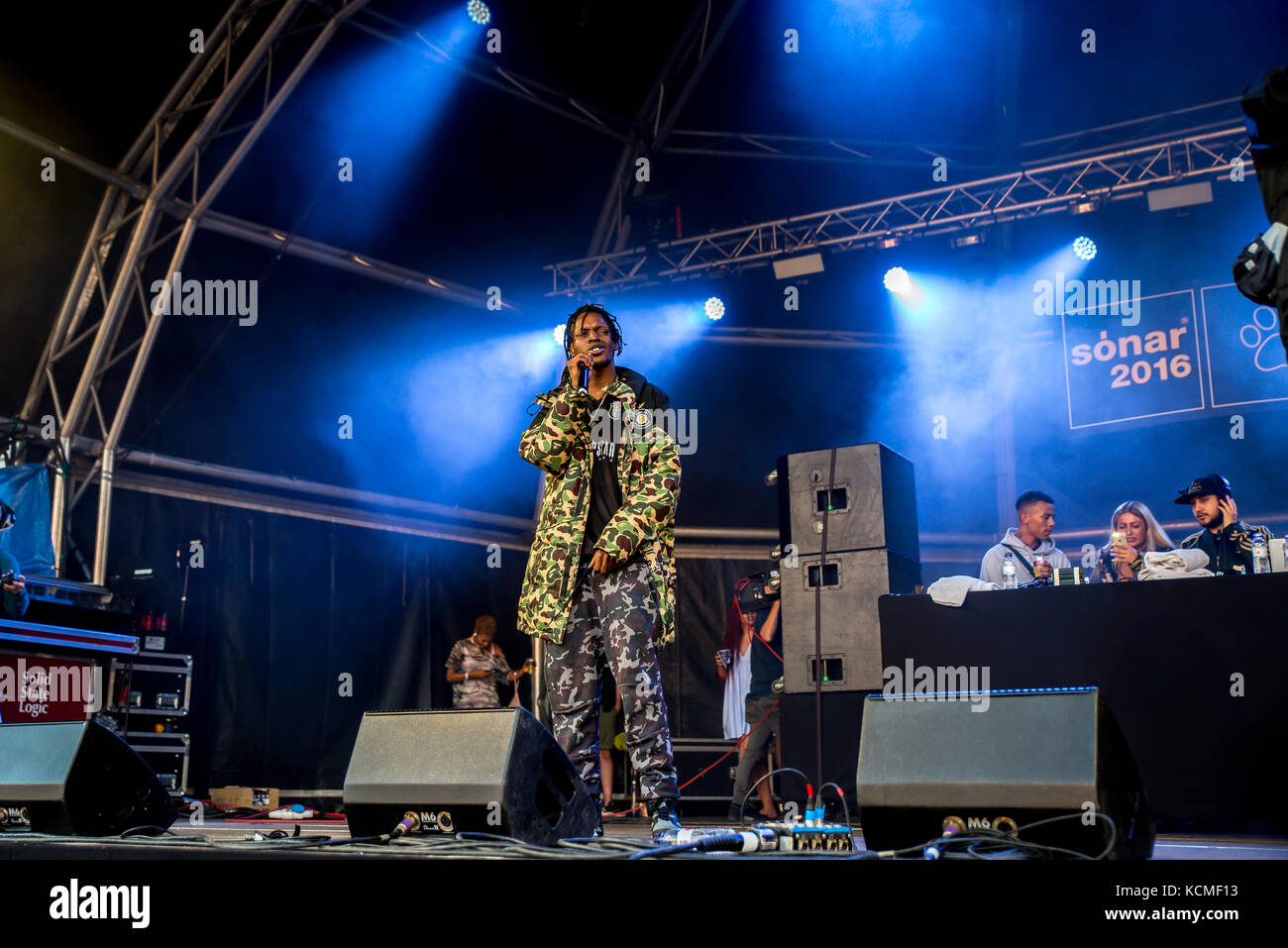 BARCELONA - JUN 18: Section Boyz (rap band) perform in concert at Sonar Festival on June 18, 2016 in Barcelona, Stock Photo