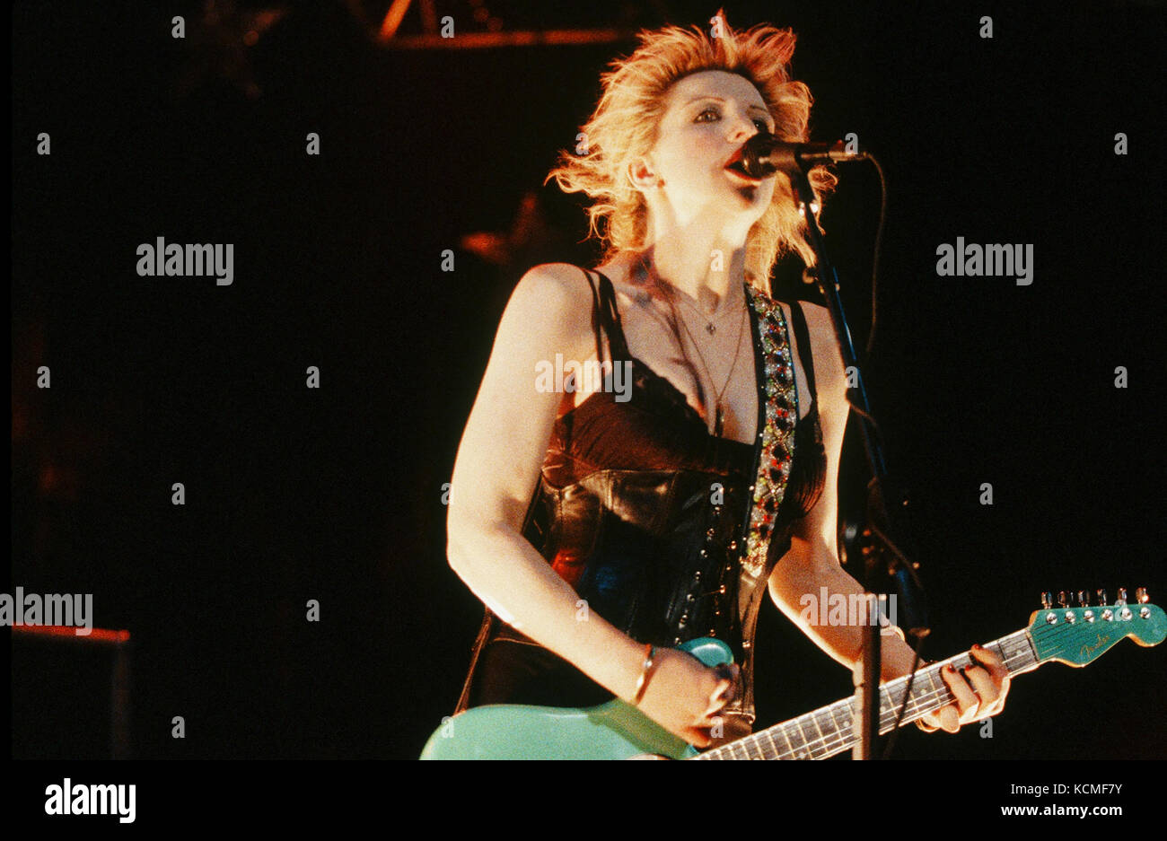 HOLE performing live on the 1995 Lollapalooza Festival at Irvine Meadows Amphitheater in Laguna Hills, CA on August - Stock Image