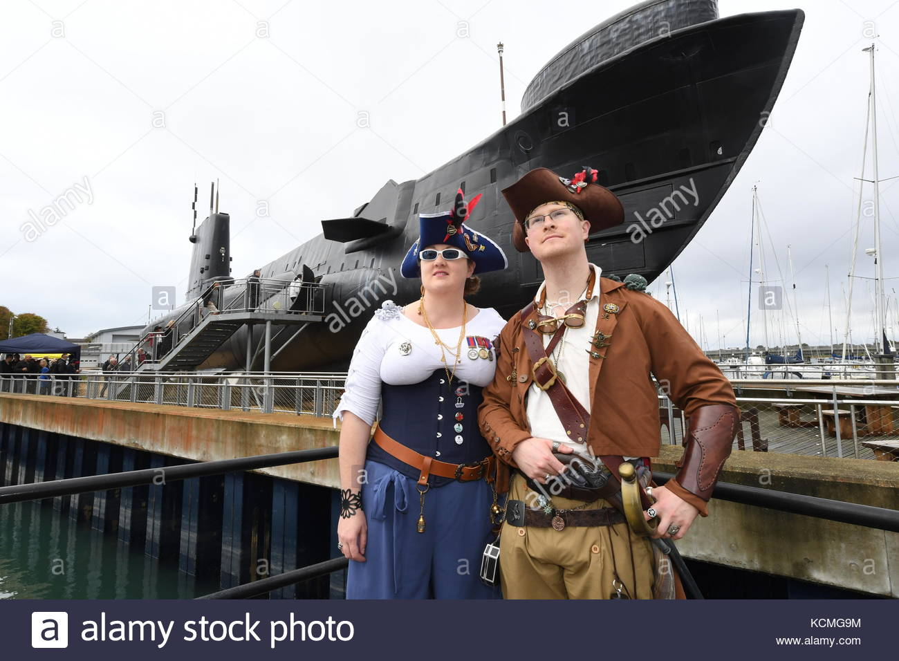 The Royal Navy Submarine Museum held its first ever Subaquatic Steampunk Weekend in Gosport, Hampshire - Stock Image